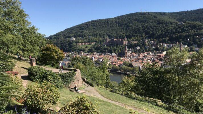 View of Heidelberg old town