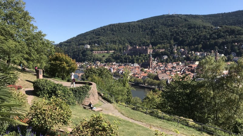View of Heidelberg old town