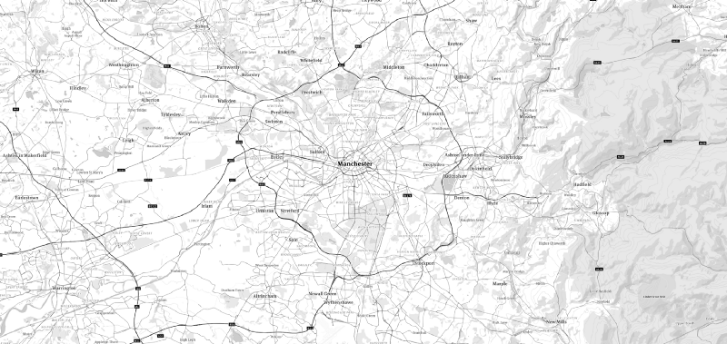 Map of Greater Manchester