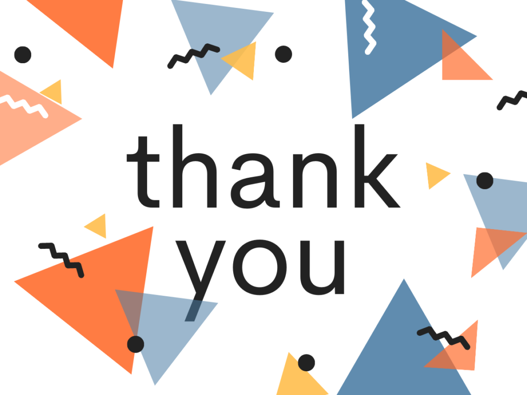 An image saying 'thank you'